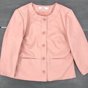 NWT JustFab pink faux leather jacket sm